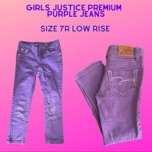 Girls Justice Purple PREMIUM Jeans Size 7R